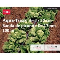 Bandă de picurare Aqua TraXX 0,32 lei/m,dist.pic.20 cm, rola 100 m