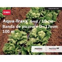 Bandă de picurare Aqua TraXX 0,32 lei/m,dist.pic.10 cm, rola 100 m