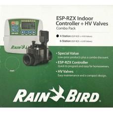 "KIT : Programator - Controler RZX 4 zone interior + 4 electrovane HV 100 FI 1 "" Rainbird 24 volti"