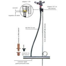 Suport aspersor 52 W/O pentru țeavă galvanizată 1,2 m